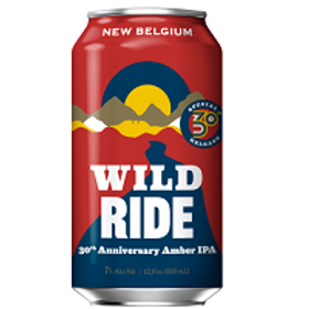New Belgium Wild Ride Amber IPA 6 Pack 12 oz Cans