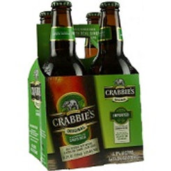 Crabbies Original Ginger Beer 4 Pack 11.2 oz Bottles