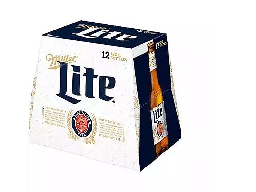 Miller Lite 12 Pack 12 oz Bottles