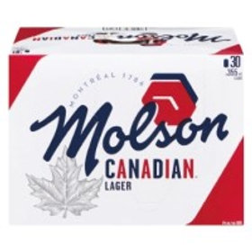 Molson Canadian 30 Pack 12 oz Cans
