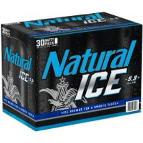 Natural Ice  30 Pack 12 oz Cans