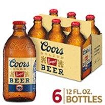 Coors Banquet  6 Pack 12 oz Bottles