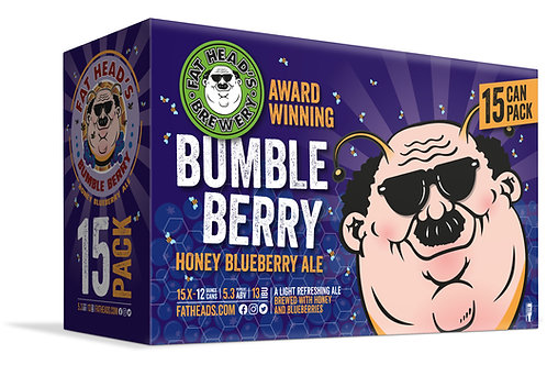 Fat Heads Bumble Berry 15 Pack 12 oz Cans