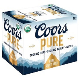 Coors Pure 12 Pack 12 oz Cans
