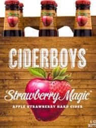 Cider Boys Strawberry Magic 6 Pack 12 oz Bottles