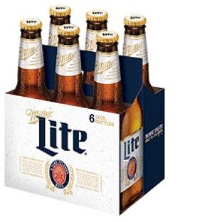 Miller Lite 6 Pack 12 oz Bottles