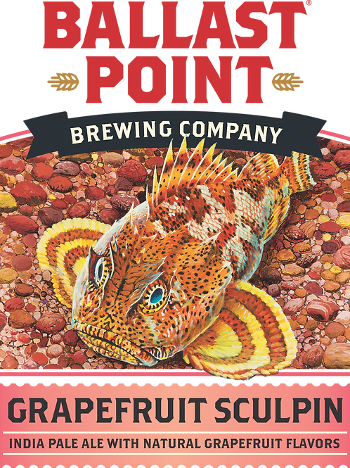Ballast Point Grapefruit Sculpin 6 Pack 12 oz Bottles