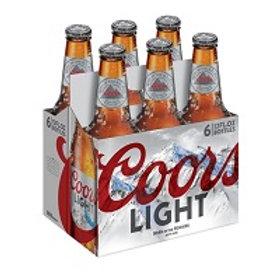 Coors Light 6 Pack 12 oz Bottles