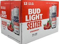 Bud Light Seltzer Strawberry 12 Pack 12 oz Cans