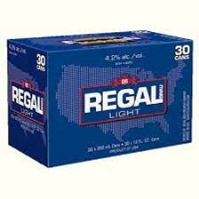 Regal Light 30 Pack 12 oz Cans