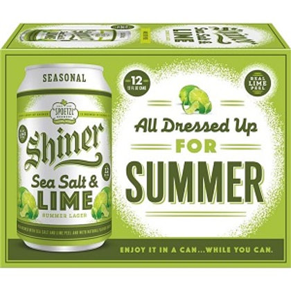 Shiner Sea Salt and Lime 12 Pack 12 oz Cans