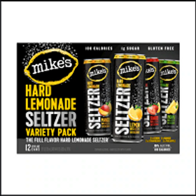 Mikes Lemonade Seltzer Variety Pack 12 Pack 12 oz Cans