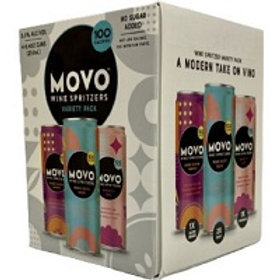 Movo Wine Spritzers Variety Pack 4 Pack 8.4 oz Cans