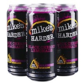 Mikes Harder Black Cherry 4 Pack 16 oz Cans