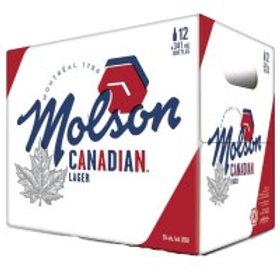 Molson Canadian 12 Pack 12 oz Bottles