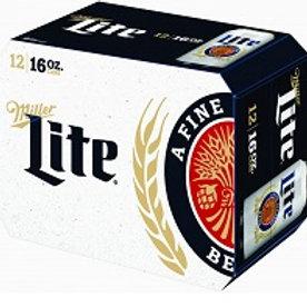 Miller Lite 12 Pack 16 oz Cans