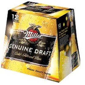 Miller Genuine Draft 12 Pack 12 oz Bottles