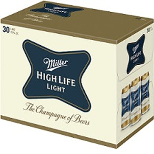Miller High Life Light 30 Pack 12 oz Cans
