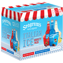 Seagrams Italian Ice  12 Pack 11.2 oz Bottles