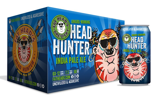 Fat Heads Head Hunter  6 Pack 12 oz Cans