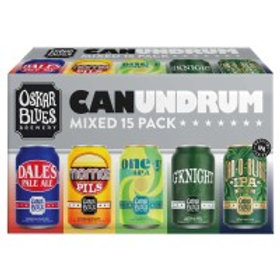 Oskar Blues Canundrum Variety Pack 15 Pack 12 oz Cans