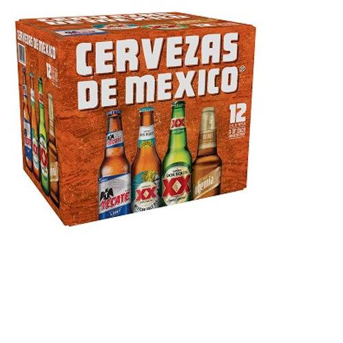 Cevezas de Mexico 12 Pack 12 oz Bottles