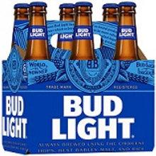 Bud Light 6 Pack 12 oz Bottles