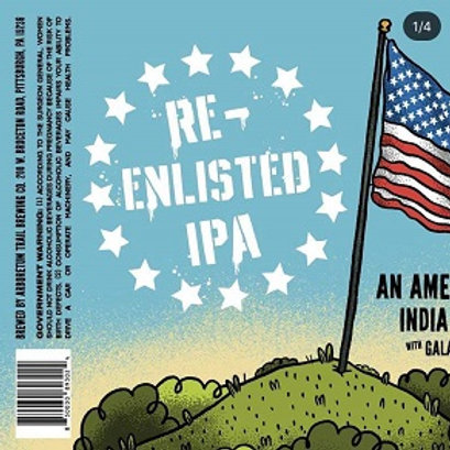 Arboretum Trail Re-Enlisted IPA 4 Pack 16 oz Cans