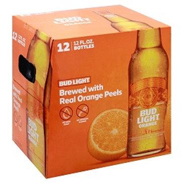Bud Light Orange 12 Pack 12 oz Bottles