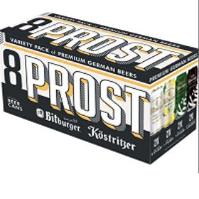 Bitburger Prost Varierty Pack 8 Pack 16 oz Cans