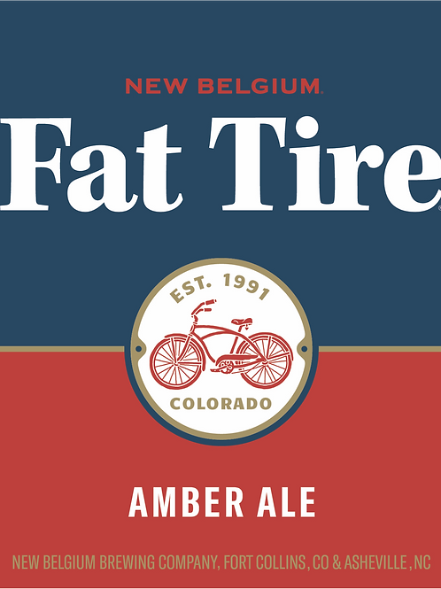 New Belgium Fat Tire Amber 24 Pack 12 oz Bottles