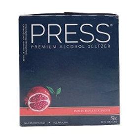 Press Pomegranite Ginger Seltzer 6 Pack 12 oz Cans
