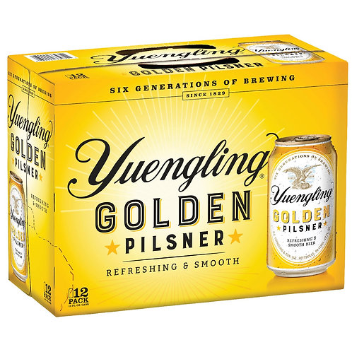 Yuengling Golden Pilsner 12 Pack 12 oz Cans