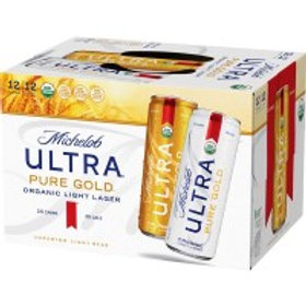 Michelob Ultra Pure Gold   12 Pack 12 oz Cans