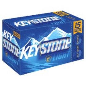 Keystone Light 15 Pack 12 oz Cans