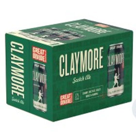 Great Divide Claymore Scotch Ale  6 Pack 12 oz Cans