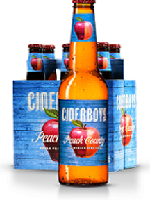Cider Boys Peach  County 6 Pack 12 oz Bottles