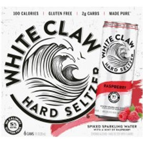 White Claw Raspberry 6 Pack 12 oz Cans