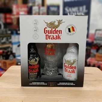 Gulden Draak Gift Holiday Pack 2 Pack 11.2 oz Bottles + Glass