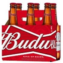 Budweiser  6 Pack 12 oz Bottles
