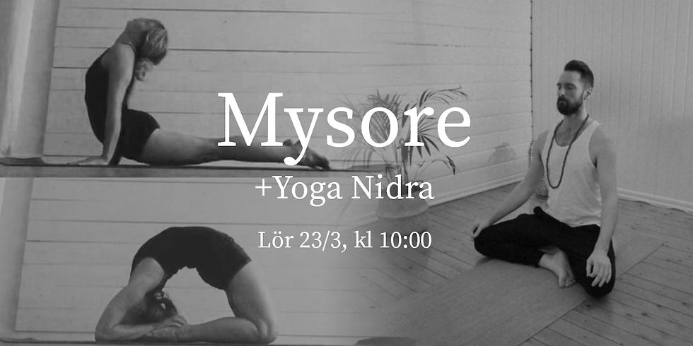 Mysore + Yoga Nidra (guidad djupavslappning) med Sofia & Micke