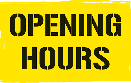 From July 1st - New Opening Times