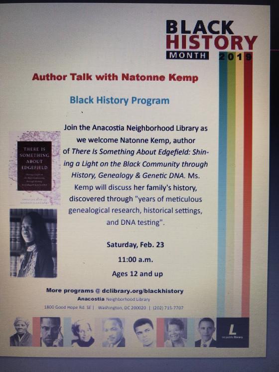 Author Talk-Saturday, February 23rd