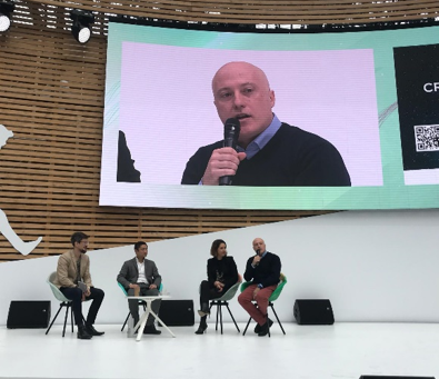 Maurizio Crippa, founder of gr3n, at the International Summit for Change, Paris