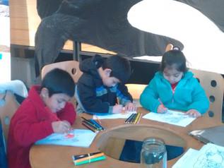 Visita alumnos preescolar a muestra  ANIMALIA
