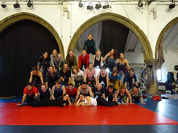 Forma Fortis circus acrobalance workshop, human pyramid