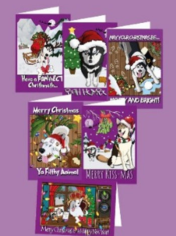 SSDR Mascot Christmas Cards - 6 Pack
