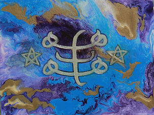 ACS03 Manifestation symbol blue and silv