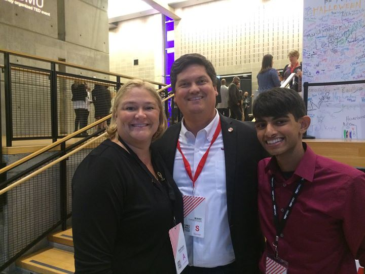 The Dean and the Director make the TEDxSMU world go round
