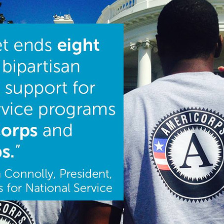 We need to continue funding programs like AmeriCorps